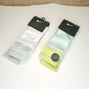 New Nike Socks One Sock Two Layers 2 pairs